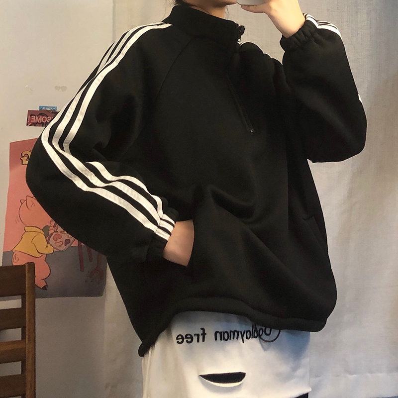 Women's Sweatshirts Japanese Harajuku Ulzzang Loose Casual Ins Lazy Sweatshirt Female Korean Kawaii Cute Clothing For Women