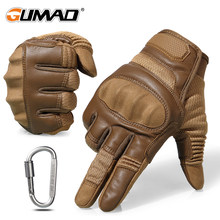Touchscreen Harte Knuckle Taktische Handschuhe Armee Militär Kampf Airsoft Outdoor Klettern Schießen Paintball Voll Finger Handschuh(China)
