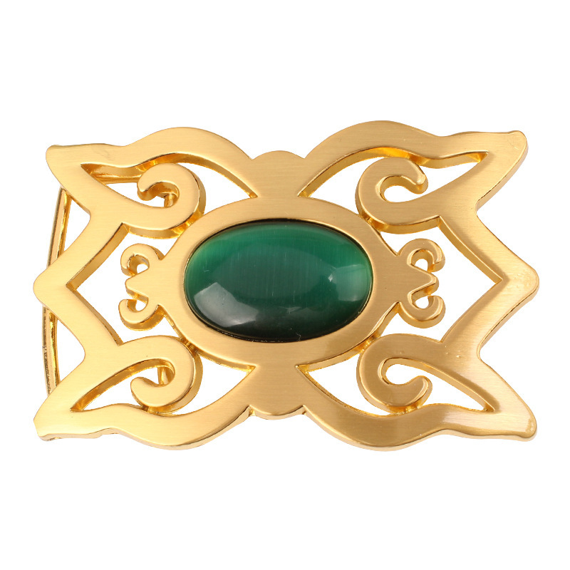 Gem Onyx Belt Buckle Flat Buckle For 3.8cm Belt Homemade Handmade Waistband Components