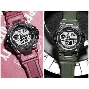 Image 5 - SMAEL cyfrowy zegarek moda męska Sport zegarki wodoodporny 5Bar chronograf zegar analogowy zegarek z alarmem reloj hombre 1548