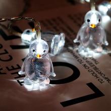 Ozdoby na choinkę pingwin syrenka Berry girlanda na przyjęcie ciąg nowy rok 2020 klip lampa ledowa ozdoby Navidad Noel,W
