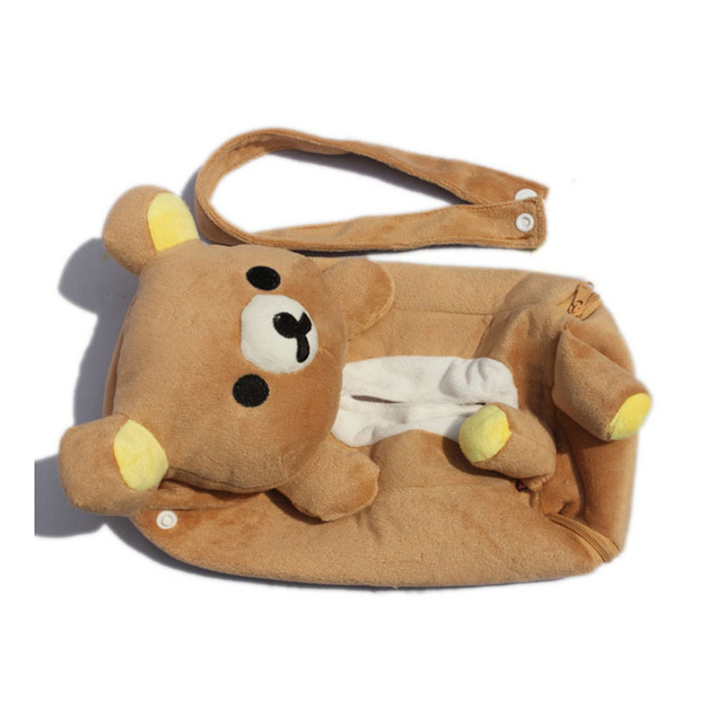 Cute Soft  Lovely Rilakkuma SanX Cute Plush Car Tissue Box Cover W/Strap