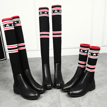 2019 Women Socks Boots Long Slim Over The Knee High Autumn Winter Elastic Booties Shoes