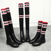 2019 Women Socks Boots Long Slim Over The Knee High Boots Autumn Winter Elastic Booties Shoes