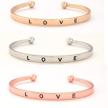 2pcs Love opening bracelet new jewelry environmental protection material simple female gift