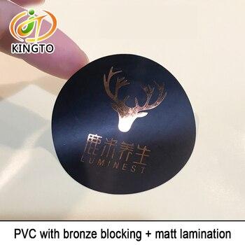 black PVC with bronze blocking and matte lamination