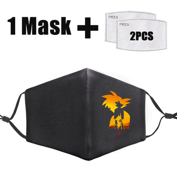 Funny Cartoon Dragon Print Ball Mask Bacteria-proof Anti Dust Washable Mouth-Muffle Adult PM2.5 Reusable Filter Masks Face unisex print mouth mask abstract light bulb head polyester anti dust mouth muffle fashion washed reusable face masks for