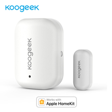 Датчик двери окна Koogeek, работает с Apple HomeKit, не требуется концентратор, сменный аккумулятор, удаленный доступ, Автоматический триггер для дверей