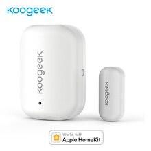 Koogeek kapı pencere sensörü ile çalışmak Apple HomeKit hiçbir Hub gerekli değiştirilebilir pil uzaktan erişim otomatik tetik kapılar için