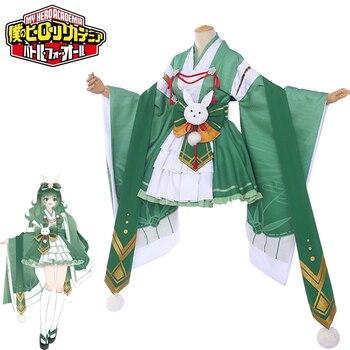 Disfraz para cosplay de My Hero Academia Uraraka Ochako, adorable disfraz para cosplay, kimono rosa, uniforme, Litte hero, ropa de Anime