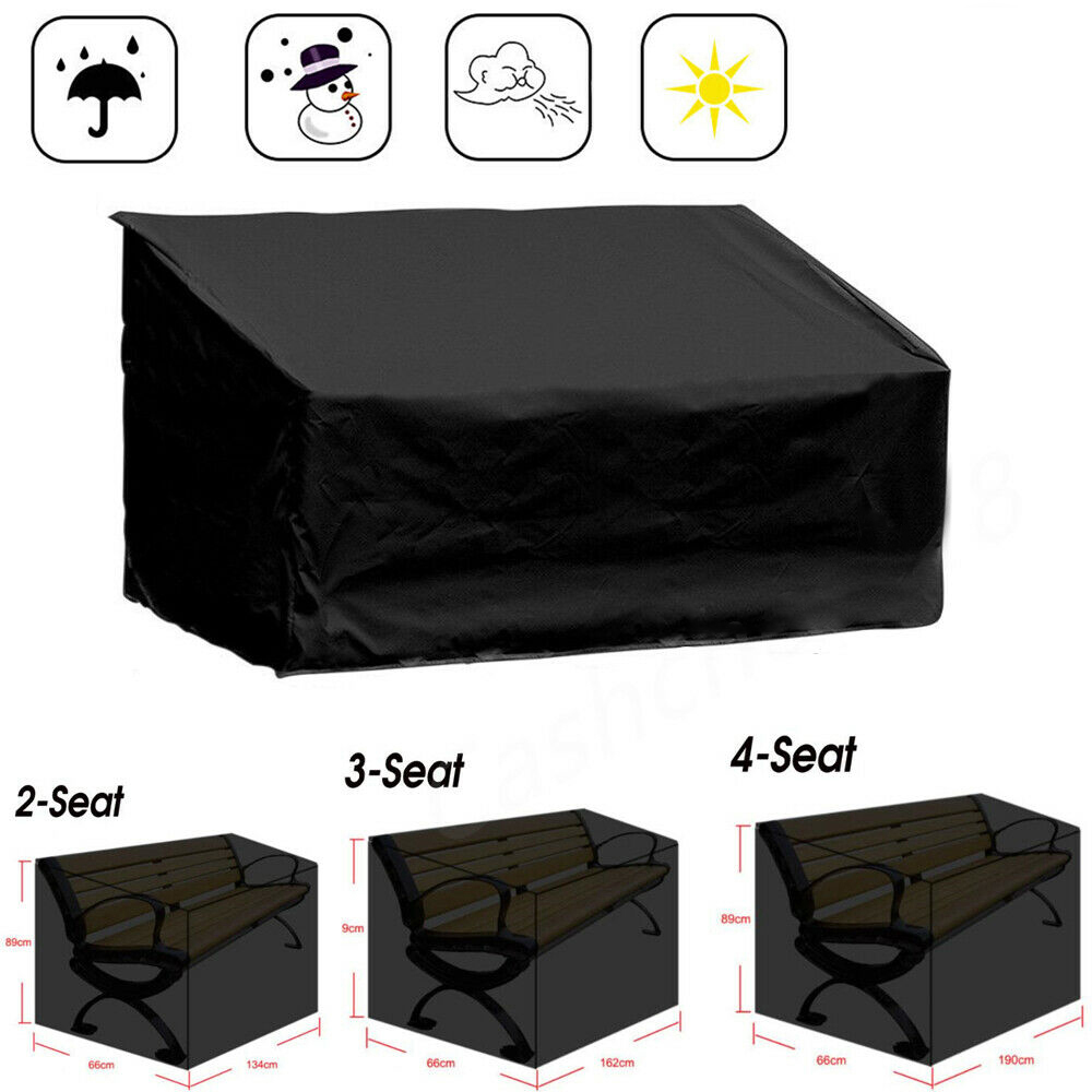 Outdoor Garden Furniture Rain Cover Waterproof Sofa Protection Set Table Chair Dustproof Black Cover Garden Patin Sofa Cover D30