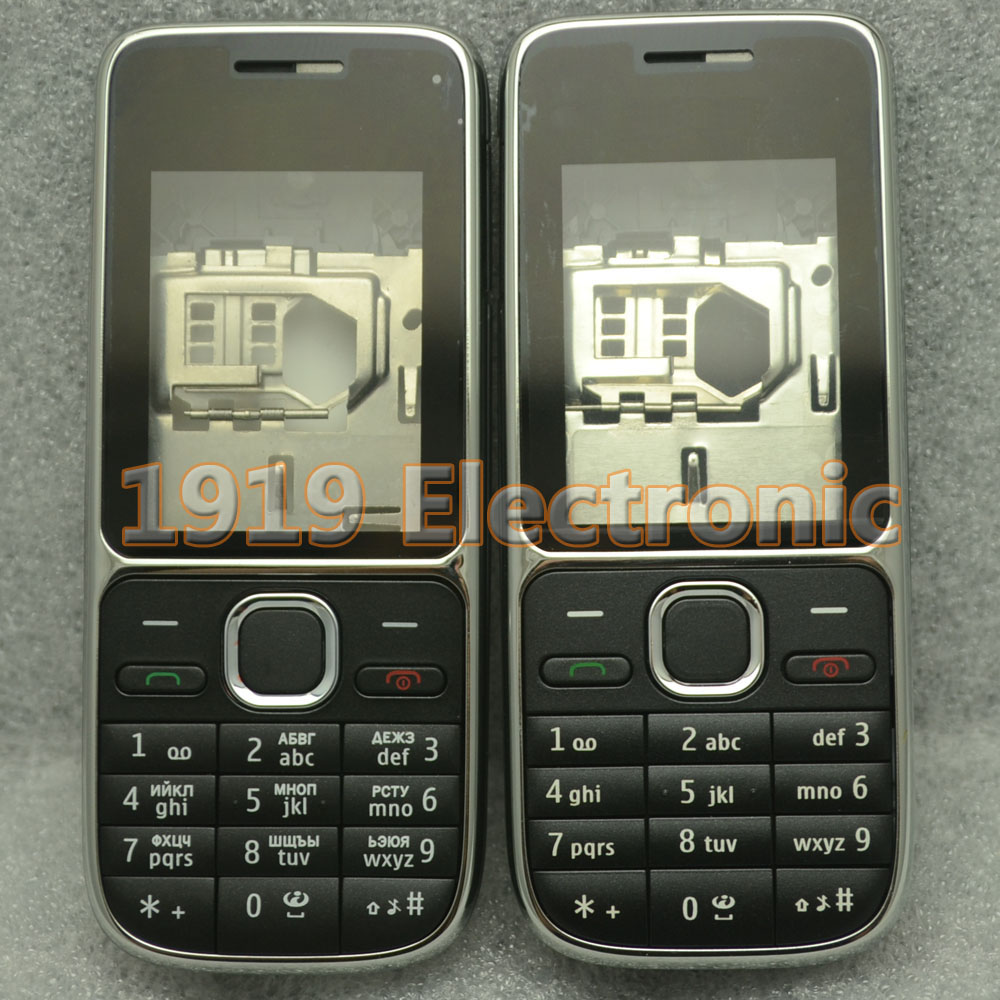 5 pcs New Full Housing Cover Case  Hebrew Or Russian Or English Keypad For Nokia C2-01 C201  + Tracking