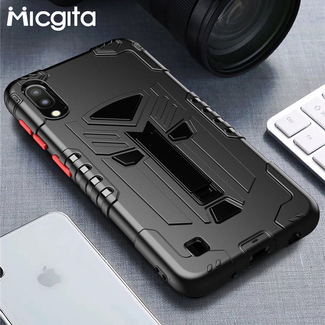 Micgita Kickstand Case For Samsung Galaxy A10S A01 Shockproof Silicone Cover Case For Samsung A01