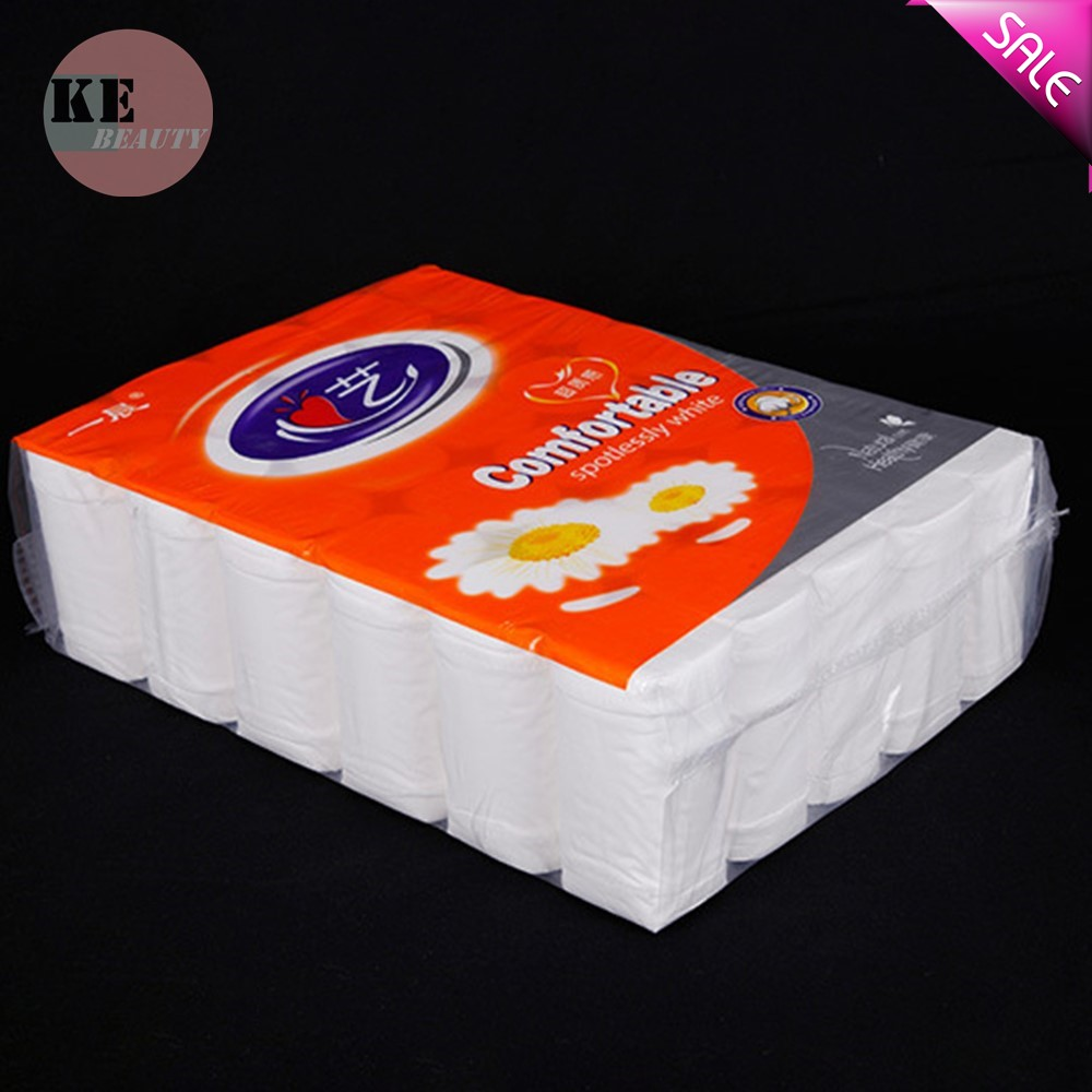 In Stock  4 Layers Toilet Roll Paper Primary Wood Pulp Toilet Paper Tissue Roll Home Bath Toilet Roll Paper