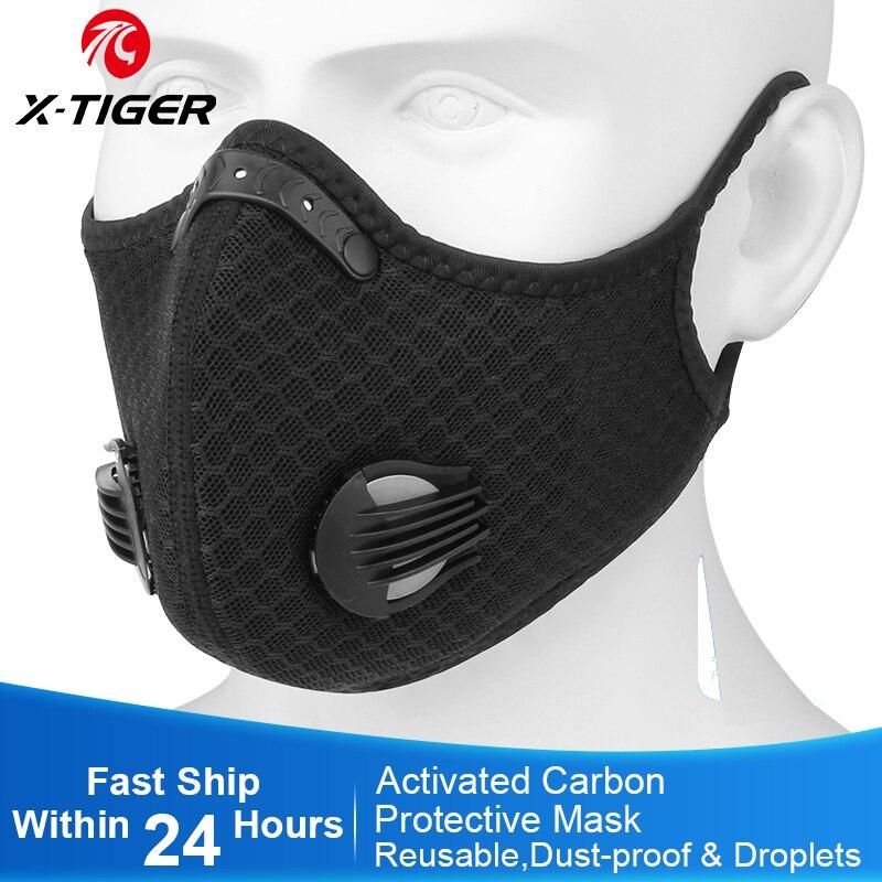 X TIGER велосипедная маска для лица с фильтром против загрязнения, фильтр против загрязнения PM 2,5, дыхательная маска с активированным углем|Маска для велоспорта| | АлиЭкспресс
