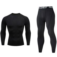 Underwear Track-Suit Tights Running-Set Skins Mma Rashgard Gym Compression Quick-Drying