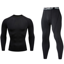 Underwear Track-Suit Tights Running-Set Rashgard Gym Compression Jogging Men's Quick-Drying