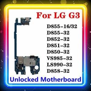 Image 1 - LG G3 D855 anakart Android yüklü 16gb/32gb ile tam orijinal temiz D850 D852 D851 VS985 D858 LS990 ana kurulu