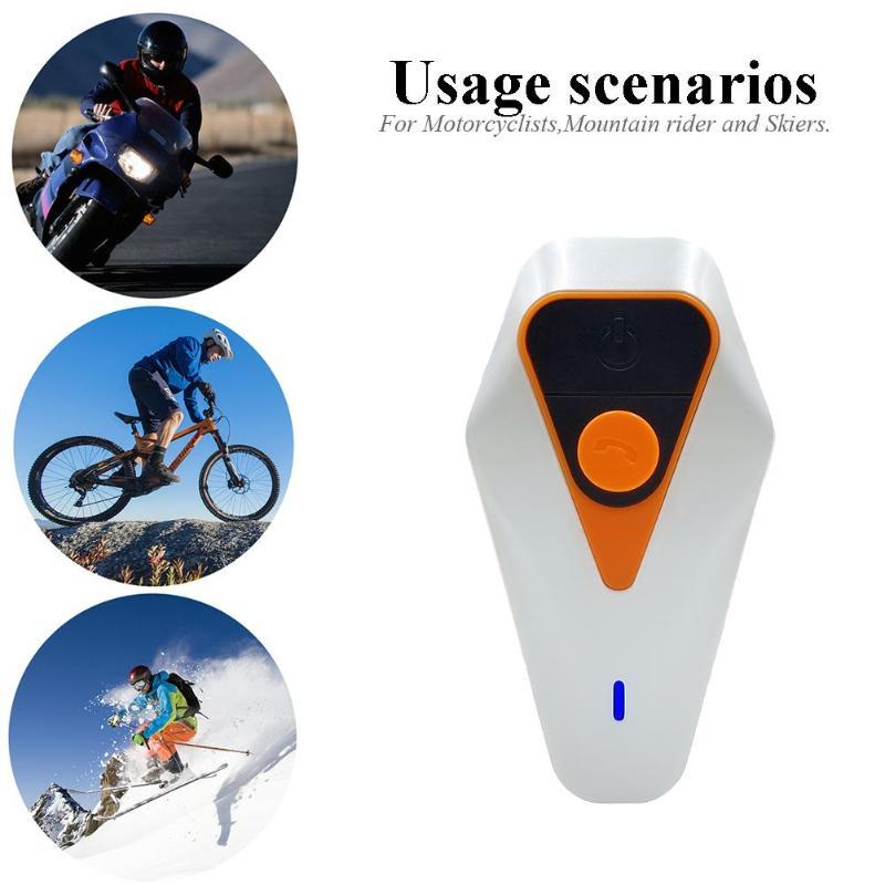 WT002 Motorcycle Helmet Headsets Waterproof Bluetooth FM Interphones Pack 2 Direct Full Duplex Interview Maximum 1000M