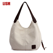 European And American Solid Color Canvas Simple Handbag Luxury Womens Shoulder Bag Fashion Casual Canvas Bags High Quality Bags