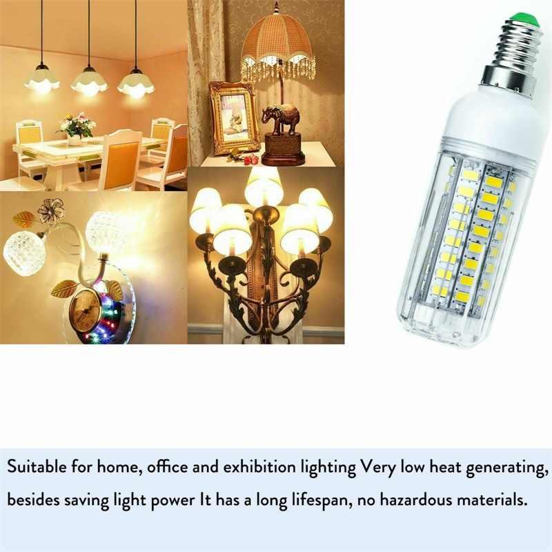 E27 LED مصباح E14 E12 LED لمبة SMD 5730 لمبة ذرة 24 36 48 56 69 72 المصابيح شمعة الثريا مصباح ليد للمنزل الديكور أمبولة