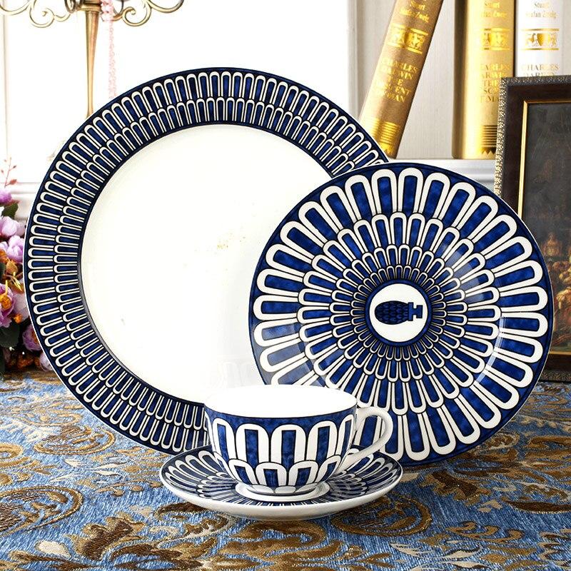 Ustensiles de cuisine en porcelaine | Service de vaisselle de luxe, Europe porcelaine Fine, décoration de Table à manger, vaisselle de Restaurant