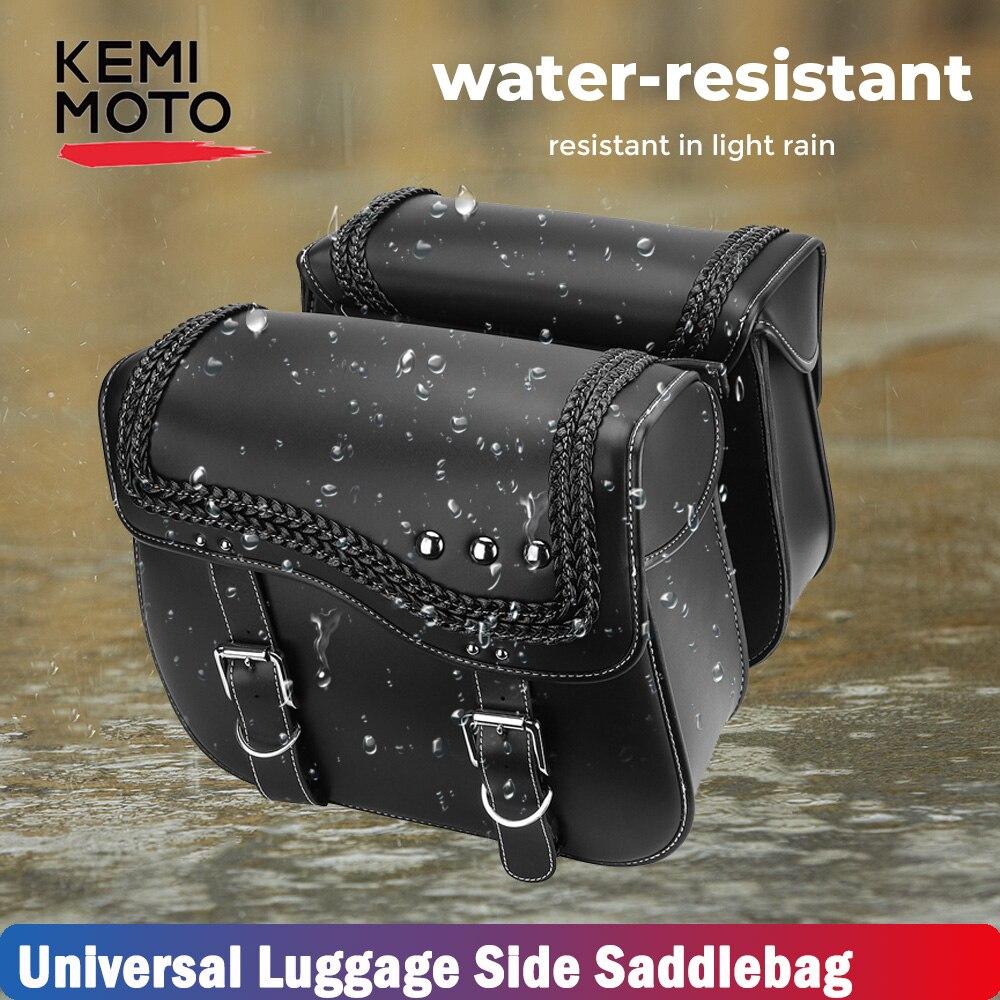 Preto sacos de sela lado bagagem ferramenta saco para sportster dyna touring softail motocicleta 100% banda nova alta qualidade couro