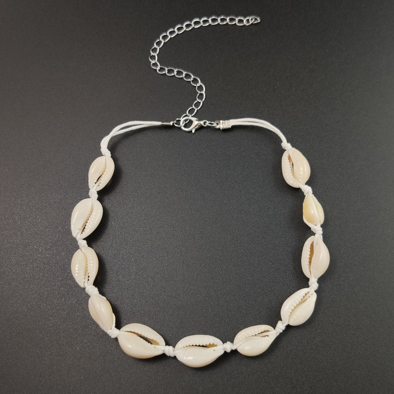 Shell Necklace Kolye Arrival Choker Collares 2019 Vsco Moana Jewelry Personality Casual Sautoir Handmade Clavicle Chain Colar in Chain Necklaces from Jewelry Accessories