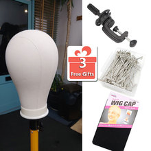 Wig Stand With Head 21-24inch Mannequin Maniquin Head Woman Wig Canvas Head For Hairstyling Displaying Making Wig Head Support