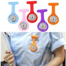 Горячая карманные часы Силикон Медсестра часы Брошь Туника Fob часы с бесплатной батареей доктор медицинский reloj de bolsillo QG