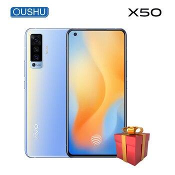 Купить Оригинальный 5G vivo x50 6,56 ''AMOLED экран экрана 48.0MP смартфон 4200 мАч 33 Вт Dash Charge 20x SuperZoom NFC 8 ГБ 128 Гб мобильный телефон