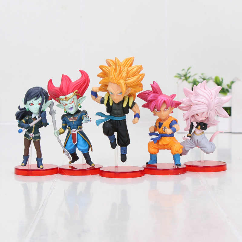 Pçs/set 5 Goku Dragon Ball WCF Fighterz 21 Figura Diabo Demigra Gogeta Super Herói SDBH De Dragon Ball Action Figure toy
