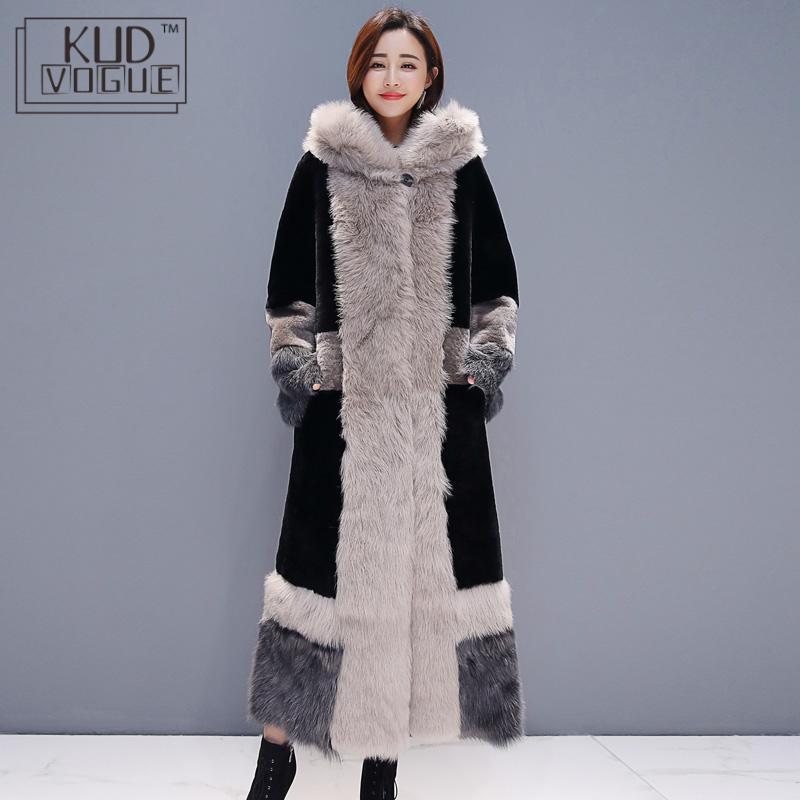 Winter Coat Women Loose Elegant Wool Coat Fashion Oversize Stitching Warm Long Coat Female Thick Faux Fur Outerwear Plus Size