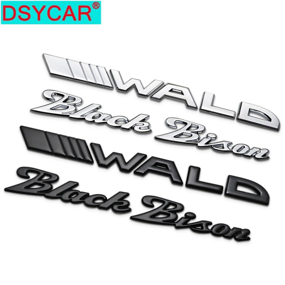 DSYCAR 1Pcs 3D Metal WALD Black Bison Car Side Fender Rear Trunk Emblem Badge Sticker Decals For Mercedes-Benz E S Accessories