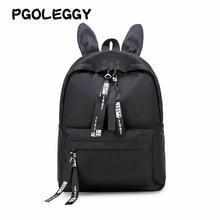 PGOLEGGY Fashion backpack women Waterproof nylon travel harajuku school bags teenager girls Ribbons pack girl