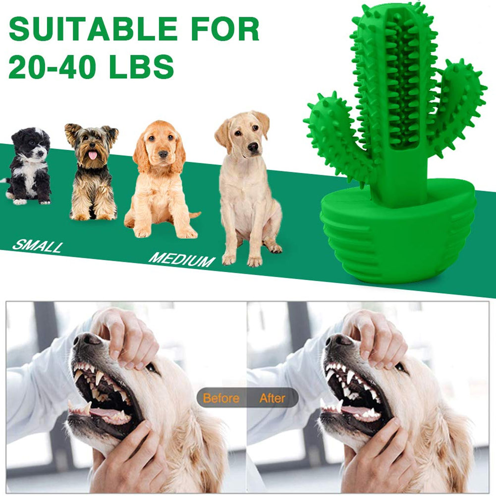 HOT Dog Teeth Cleaning Toys Rubber Toothbrush Stick Pets Dog Tooth Cleaner Tool TI99 image