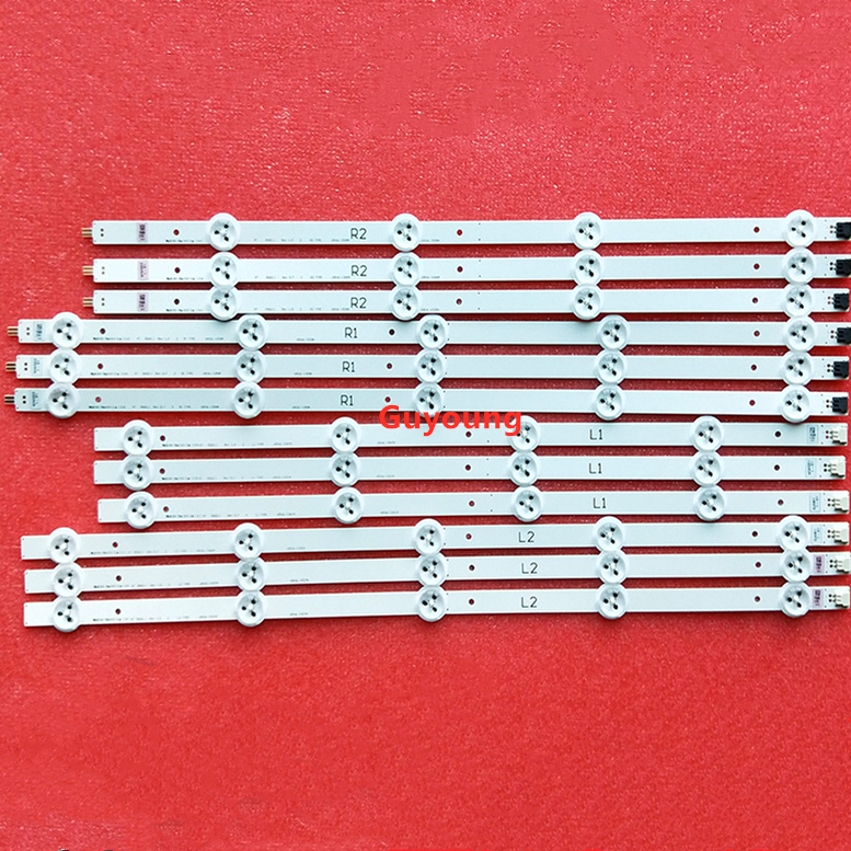 12PCS / Set LED Backlight Strip For LG TV 47LA620S 6916L-1259A 6916L-1260A 6916L-1261A 6916L-1262A LC470DUE