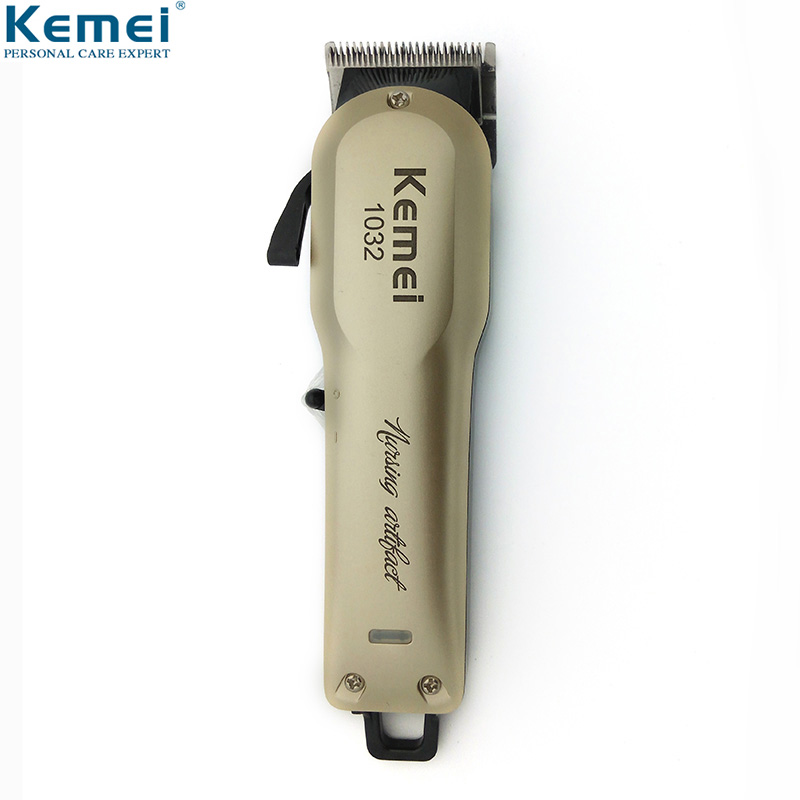 <font><b>Kemei</b></font> KM-<font><b>1032</b></font> Powerful Hair Beard Trimmer Professional Electric Hair Clipper Cordless Hair Cutting Machine with Combs Barber image