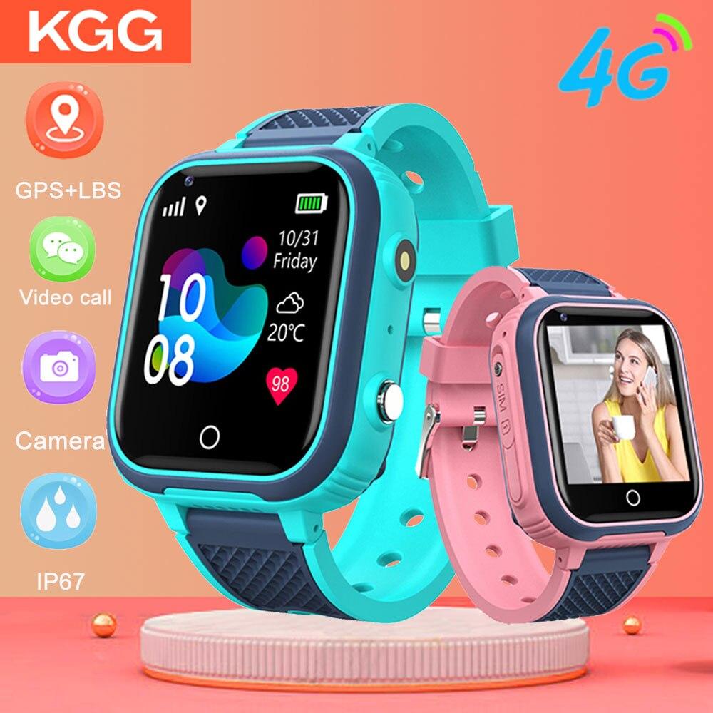 4G Смарт-часы детская камера GPS WIFI IP67 водонепроницаемые Детские умные часы для студентов видеозвонки монитор трекер местоположение телефон ...