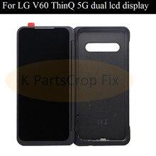Original para lg v60 display lcd tela de toque digitador assembléia tela secundária para lg v60 thinq 5g tela dupla lcd
