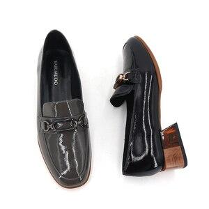 Image 5 - VAIR MUDO/модные женские туфли лодочки; Женские черные туфли из натуральной кожи на толстом каблуке; Сезон весна осень; Женские офисные туфли с круглым носком; 2020