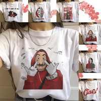 Verano nueva camiseta De La Casa De Papel camiseta Vogue Casual Dali máscara Casa camiseta De mujer De Papel