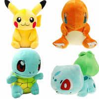 Pikachu de felpa de juguete Jigglypuff Squirtle Mewtwo Charmander Gengar Psyduck Magikarp juguetes película anime muñeca para chico regalos de cumpleaños Sof