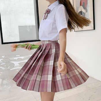 Japanese School Uniforms Skirts Girl\'s Dresses JK Suits Plaid Skirt Bowknot Shirt Female Sailor Costume Dress Clothes for Women