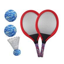 1 Pair Children Tennis Badminton Racket Kids Palying Badminton Parent-Child Educational Game Props for Kindergarten Primary Scho