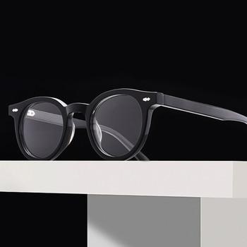 Korea Luxury Brand Glasses Frame Women Round Vintage Prescription Myopia Optical Acetate Eyeglasses Men GENTLE Eyewear