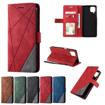 Retro Mixed Colors Flip Case For Samsung Galaxy A12 A 12 Magnetic PU Leather Wallet Book Cover for Galaxy A 12 SM-A215F Coques