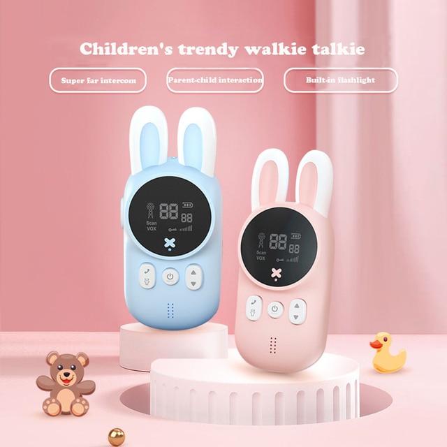 2pcs/Set Children's Walkie Talkie Kids Electronic Spy Gadgets Handheld Transceiver 3KM Range UHF Radio Interphone Toys For Boys 3