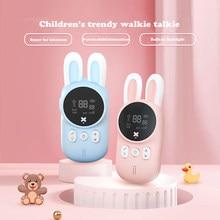 Mini Talkie-walkie avec émetteur-récepteur radio UHF pour enfant, jouet de poche avec lanière, style interphone, idée de cadeau d'anniversaire, 2 pièces par ensemble, 3KM,