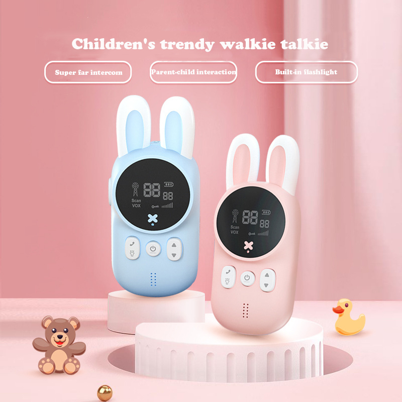 Çocuk Walkie Talkie çocuklar Mini oyuncaklar el telsizi 3KM aralığı UHF radyo kordon interkom doğum günü hediyesi 2 adet/takım